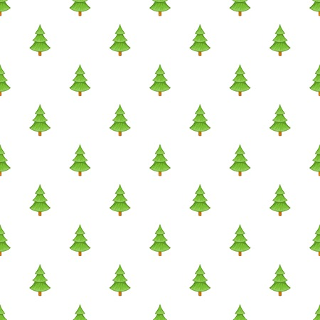 fur tree: Fur tree pattern. Cartoon illustration of fur tree vector pattern for web