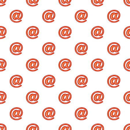 Sign e-mail pattern. Cartoon illustration of sign e-mail vector pattern for web Illustration
