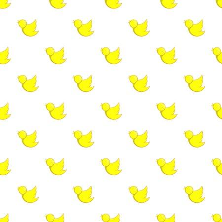 Yellow bird pattern. Cartoon illustration of yellow bird vector pattern for web Illustration