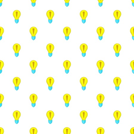 Light bulb idea pattern. Cartoon illustration of light bulb idea vector pattern for web