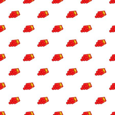 Dynamite pattern. Cartoon illustration of dynamite vector pattern for web Illustration