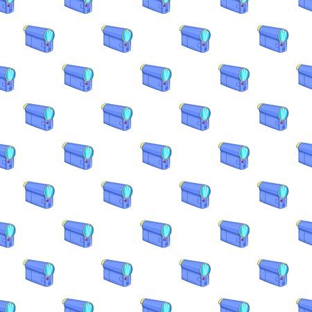 Film projector pattern. Cartoon illustration of film projector vector pattern for web