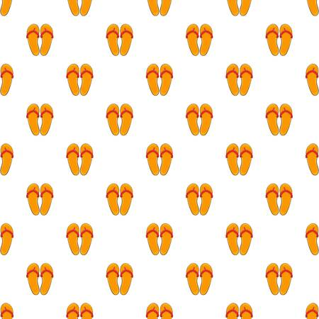 Flips flops pattern. Cartoon illustration of flips flops vector pattern for web