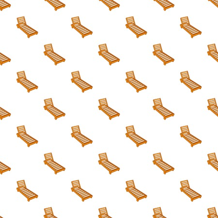 brolly: Wooden chaise lounge pattern. Cartoon illustration of wooden chaise lounge vector pattern for web