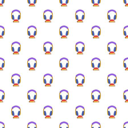 audio book: Audio book pattern. Cartoon illustration of audio book vector pattern for web