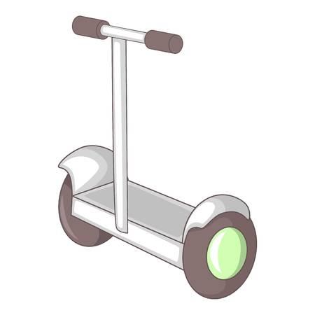 segway: Electric segway icon. Cartoon illustration of segway vector icon for web design