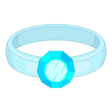 Ring icon. Cartoon illustration of ring vector icon for web design Illustration