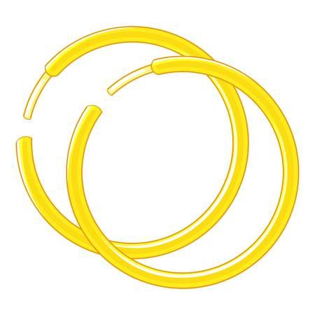 Gold earrings icon. Cartoon illustration of gold earrings vector icon for web design Illustration