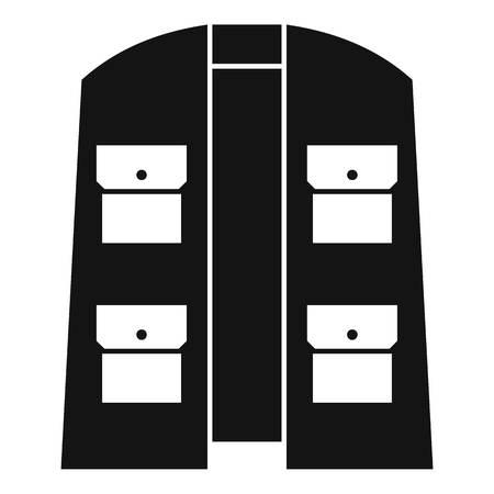 Hunter vest icon. Simple illustration of hunter vest vector icon for web