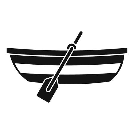 Vissersboot icoon. Eenvoudige illustratie van de vissersboot vector pictogram voor web