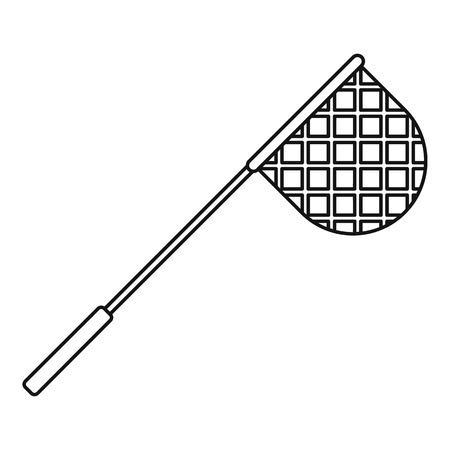 fishnet: Net for fishing icon. Outline illustration of net for fishing vector icon for web