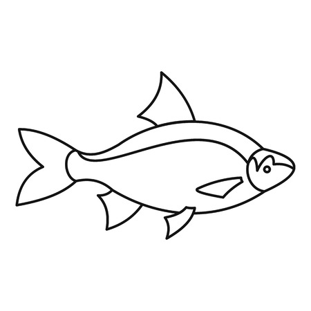 perca: Fish icon. Outline illustration of fish vector icon for web