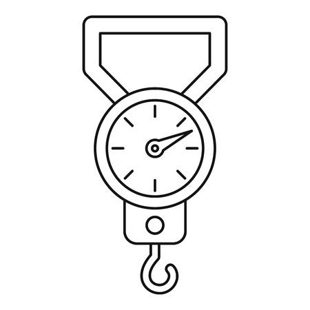 steelyard: Steelyard icon. Outline illustration of steelyard vector icon for web Illustration