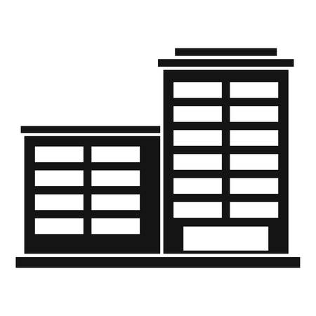 Manufacturing factory building icon. Simple illustration of manufacturing factory building vector icon for web