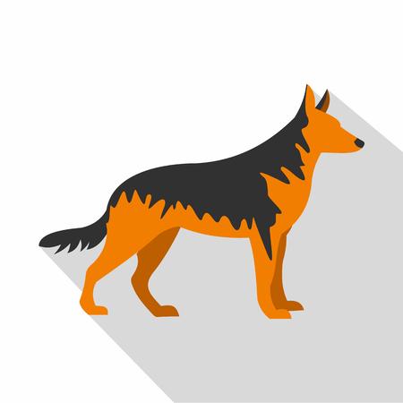 german shepherd dog: German Shepherd dog icon. Flat illustration of German Shepherd dog vector icon for web isolated on white background Illustration