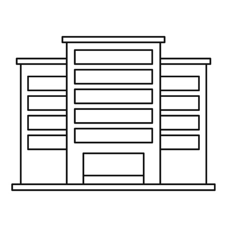 powerhouse: Industrial plant building icon. Outline illustration of industrial plant building vector icon for web