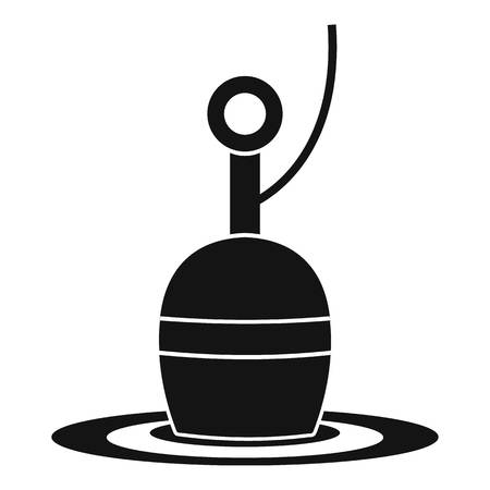 bobber: Floating bobber icon. Simple illustration of floating bobber vector icon for web