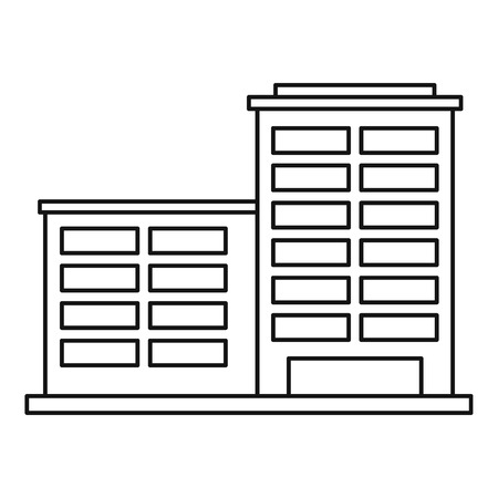 powerhouse: Industrial building icon. Outline illustration of industrial building vector icon for web
