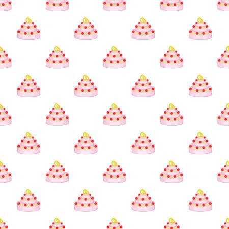 wedding reception decoration: Wedding cake pattern. Cartoon illustration of wedding cake vector pattern for web