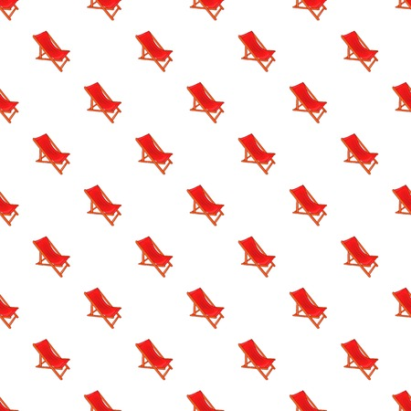 Red chaise lounge pattern. Cartoon illustration of chaise lounge vector pattern for web