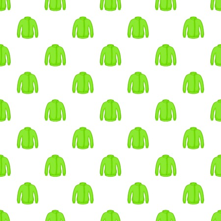 zip hoodie: Green jacket pattern. Cartoon illustration of green jacket vector pattern for web