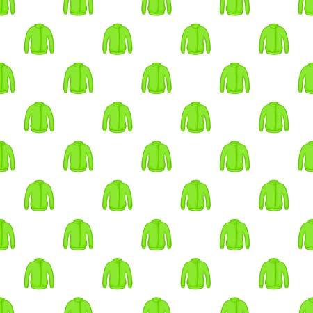 Green jacket pattern. Cartoon illustration of green jacket vector pattern for web