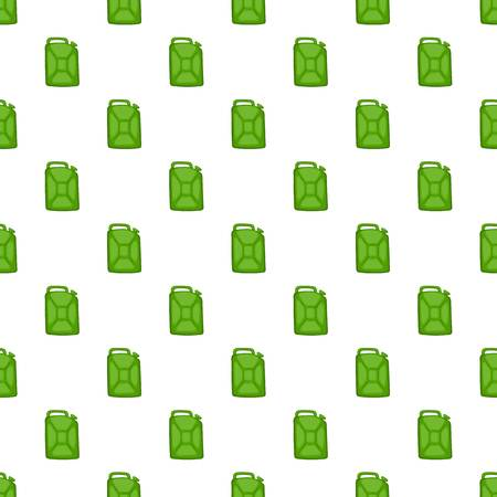 green fuel: Green fuel canister pattern. Cartoon illustration of green fuel canister vector pattern for web