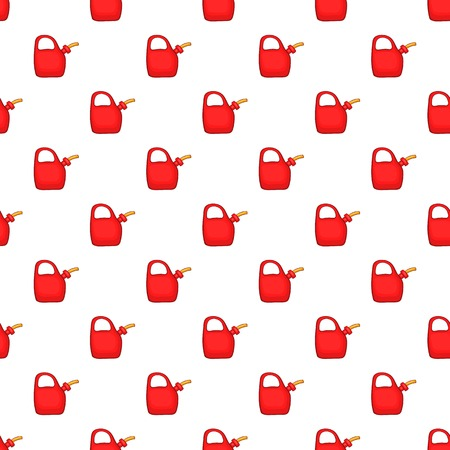 Red oiler pattern. Cartoon illustration of red oiler vector pattern for web