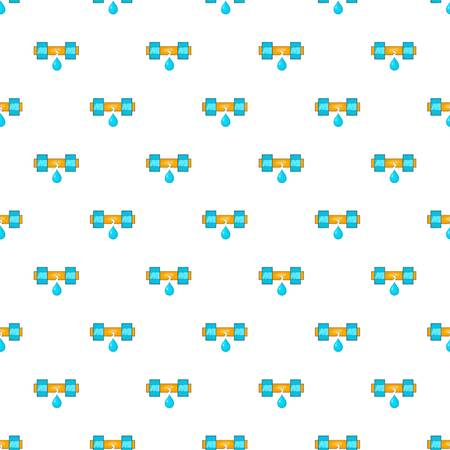 Dripping water pipe pattern. Cartoon illustration of dripping water pipe vector pattern for web