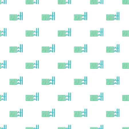 plastic pipe: Radiator pattern. Cartoon illustration of radiator vector pattern for web Illustration