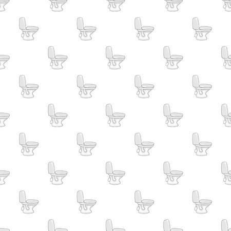 septic: White toilet bowl pattern. Cartoon illustration of white toilet bowl vector pattern for web