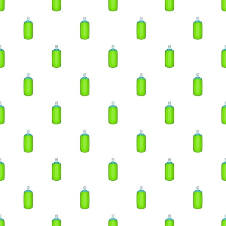 aerosol: Green air freshener aerosol bottle pattern. Cartoon illustration of green air freshener aerosol bottle vector pattern for web