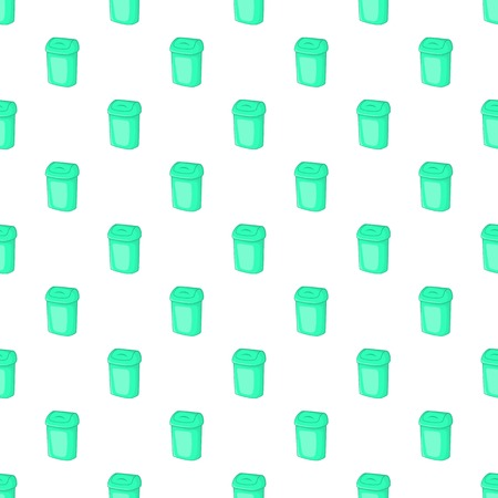 can pattern: Turquoise trash can pattern. Cartoon illustration of turquoise trash can vector pattern for web