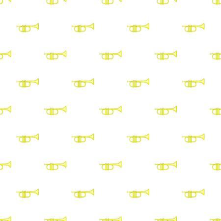 blare: Brass trumpet pattern. Cartoon illustration of brass trumpet vector pattern for web