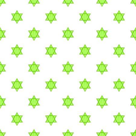 Star of David pattern. Cartoon illustration of Star of David vector pattern for web Illustration