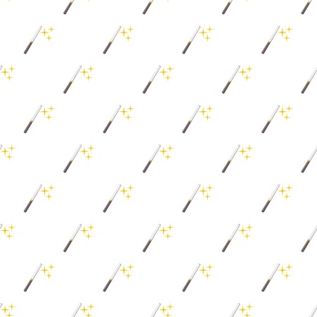 Magic wand pattern. Cartoon illustration of magic wand vector pattern for web Illustration