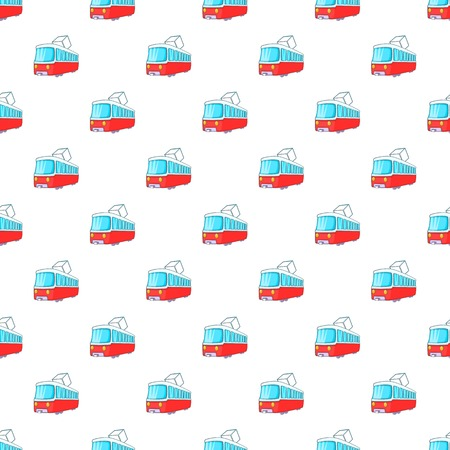 electric train: Electric train pattern. Cartoon illustration of electric train vector pattern for web