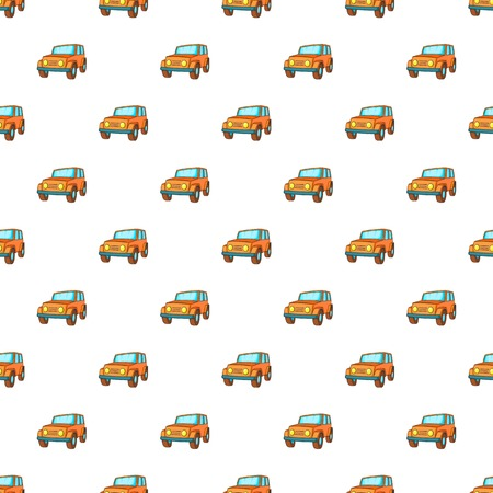 jeep: Jeep pattern. Cartoon illustration of jeep vector pattern for web