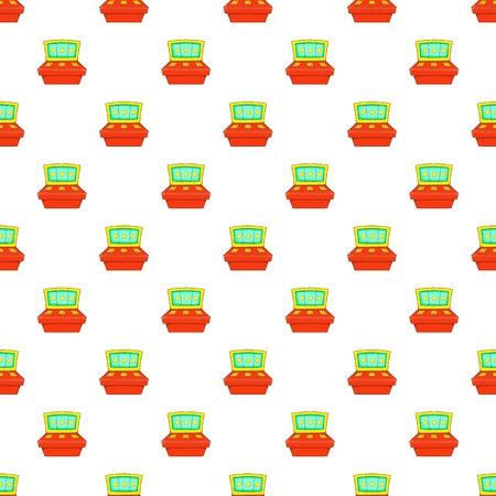 Slot machine pattern. Cartoon illustration of slot machine vector pattern for web