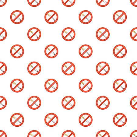 prohibido: Fumar está prohibido patrón. Ilustración de dibujos animados de fumar está prohibido vector patrón de la Web