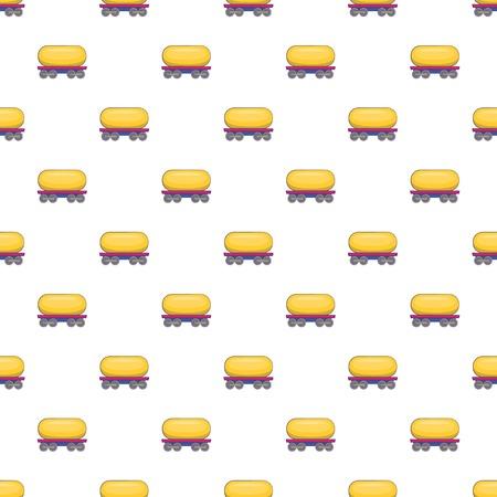 tank car: Tank car for gasoline pattern. Cartoon illustration of tank car for gasoline vector pattern for web