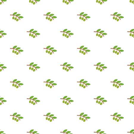 a sprig: Sprig of olive pattern. Cartoon illustration of sprig of olive vector pattern for web Illustration