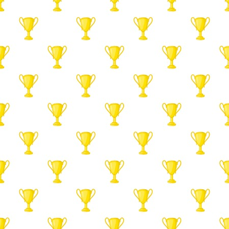 Gold cup pattern. Cartoon illustration of gold cup vector pattern for web Illustration