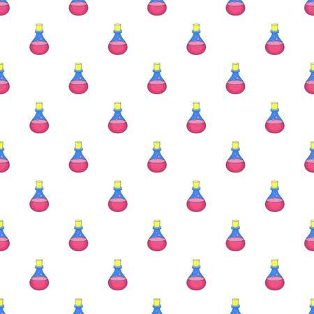 Flask of oil pattern. Cartoon illustration of flask of oil vector pattern for web Illustration