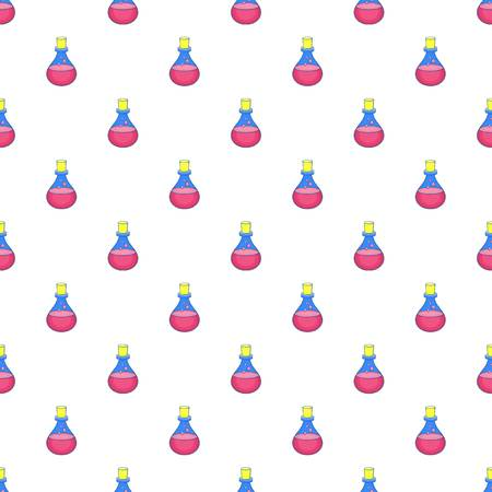 Flask of oil pattern. Cartoon illustration of flask of oil vector pattern for web Stock Photo