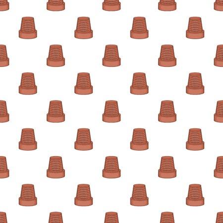 thimble: Thimble pattern. Cartoon illustration of thimble vector pattern for web