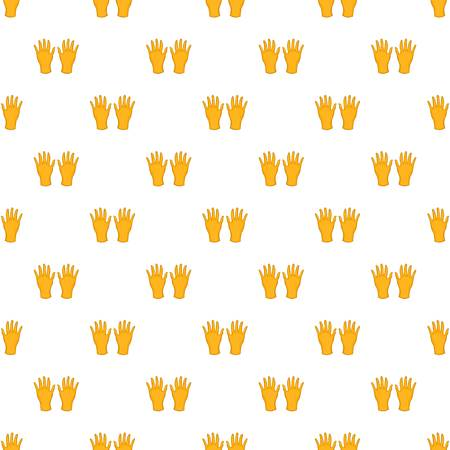 rubber gloves: Rubber gloves pattern. Cartoon illustration of rubber gloves vector pattern for web