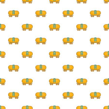 tanker: Tanker trailer on train pattern. Cartoon illustration of tanker trailer on train vector pattern for web