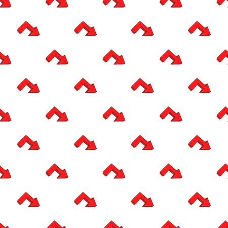 Right arrow pattern. Cartoon illustration of right arrow vector pattern for web