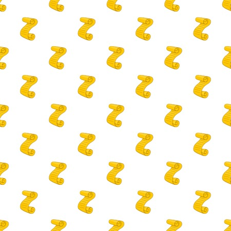 Scroll paper pattern. Cartoon illustration of scroll paper vector pattern for web Illustration